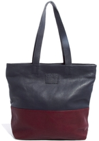Jack Wills Color Block Leather Tote Bag