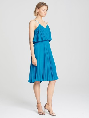 Halston Pleated Cami Dress