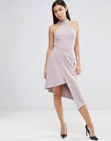 Asos High Neck Asymmetric Dress