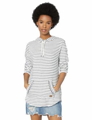 Roxy Junior's Times Passed Striped Hooded Sweatshirt