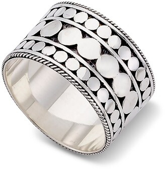 Samuel B. Sterling Silver Dotted Band Ring