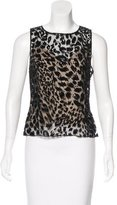 Laundry by Shelli Segal Patterned Sheer Top
