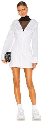 Danielle Guizio Oversized Shirting Corset Dress