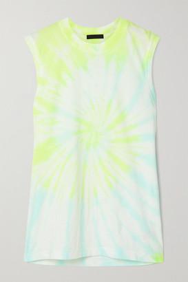 ATM Anthony Thomas Melillo Tie-dyed Cotton-jersey Tank - White