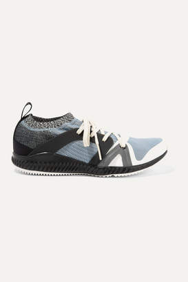 adidas by Stella McCartney Crazytrain Pro Mesh And Stretch-knit Sneakers - Blue