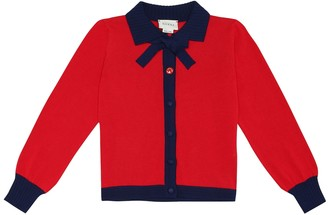 Gucci Kids Bow-neck cardigan