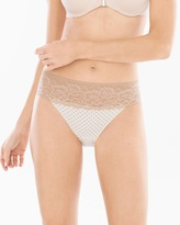 Soma Intimates Cotton/Modal with Lace Hipster