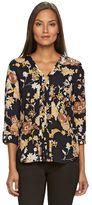 Dana Buchman Women's Woven V-Neck Shirt