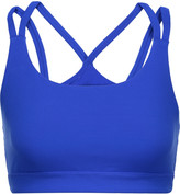 Yummie by Heather Thomson Sloan mesh-paneled stretch-jersey sports bra