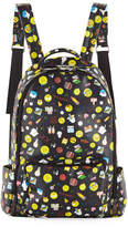 Bari Lynn Kids' Emoji-Print Faux-Leather Backpack