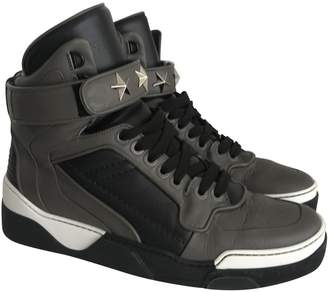Givenchy Tyson Grey Leather Trainers