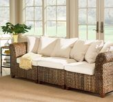 Pottery Barn Seagrass Roll Arm Sofa