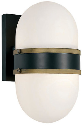 Crystorama Capsule Outdoor Sconce - Black/Gold