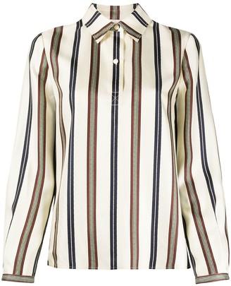 Tory Burch Striped Silk Shirt