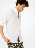 Michael Kors Slim-Fit Linen Shirt