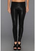 Black Vegan Leather Legging in Pussy Cat