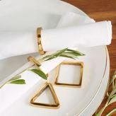 west elm Gold Napkin Ring Set