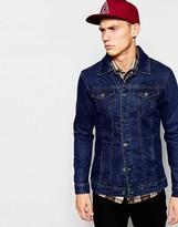 Pull&bear Dark Wash Denim Jacket - Blue