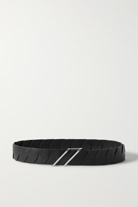 Bottega Veneta Leather Belt - Black