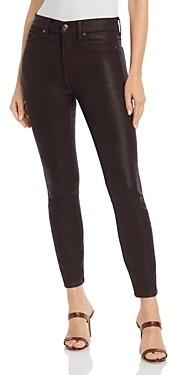 7 For All Mankind Coated High Waisted Ankle Skinny Jeans