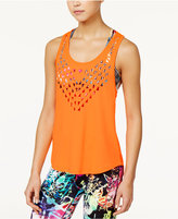 Energie Active Juniors' Layered Sports Bra Mesh Tank Top