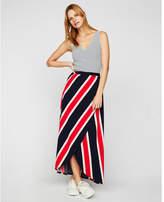 Express stripe wrap front maxi skirt