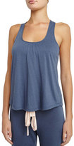 Eberjey Heathered Racerback Lounge Tank, Beach Blue