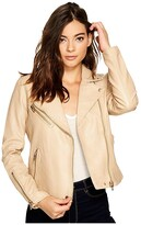 Blank NYC Faux Leather Moto Jacket (Natural Light) Women's Coat