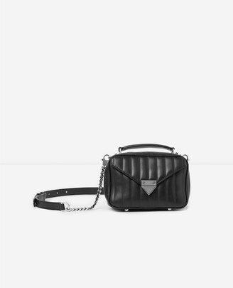 The Kooples Mini black Barbara bag in quilted leather