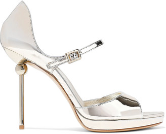 Roger Vivier Mirrored-leather Platform Sandals