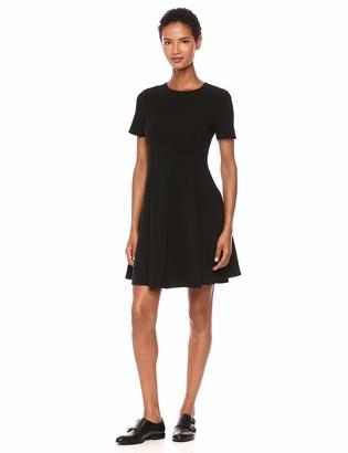 Theory Women's Short Sleeve Paneled Full Dress
