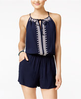 Amy Byer Juniors' Embroidered Romper