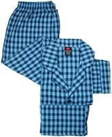 Hanes Men's Big & Tall Broadcloth Long Sleeve Pajama Set, 5XL