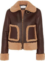 Chloé Shearling And Leather Jacket - Brown