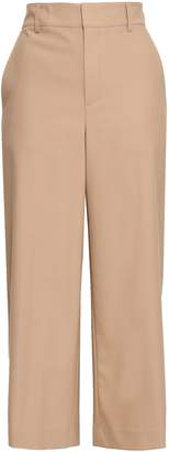 Vince Cropped Stretch-wool Cady Wide-leg Pants