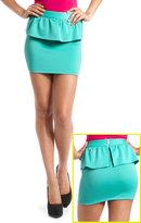 Charlotte Russe Scuba Peplum Mini Skirt