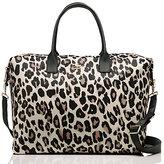 Kate Spade Classic nylon leopard lyla weekender