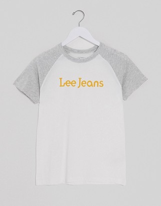 Lee Jeans Lee Raglan Tee in bright white