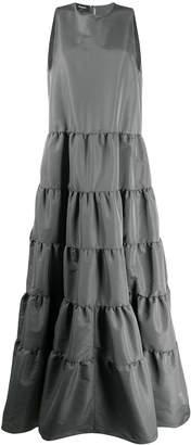 Rochas tiered taffeta gown