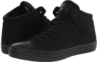 Converse Chuck Taylor(r) All Star(r) High Street Mono Canvas Hi (Black/Black/Black) Lace up casual Shoes