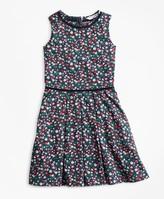 Brooks Brothers Girls Supima Cotton Floral Dress