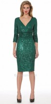 NUE by Shani Sequin Three Quarter Sleeve Dress