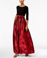 Jessica Howard Floral-Print Ball Gown
