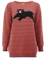 Gucci striped panther jumper - women - Wool - S