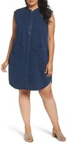 Eileen Fisher Plus Size Women's Lightweight Denim Shirtdress