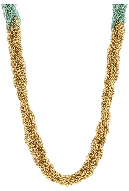 Juicy Couture Laurel Canyon Braided Chain Necklace (Multi) - Jewelry