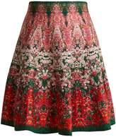 Alexander McQueen Flowerbed jacquard-knit mini skirt