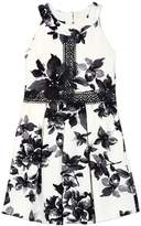IZ Amy Byer Girls 7-16 IZ Amy Byer Floral Texture Knit Halter Dress