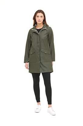 Levi's Women's Lightweight Rubberized PU Fishtail Rain Anorak Parka Jacket