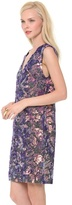 Vera Wang Collection Floral Sequin Dress